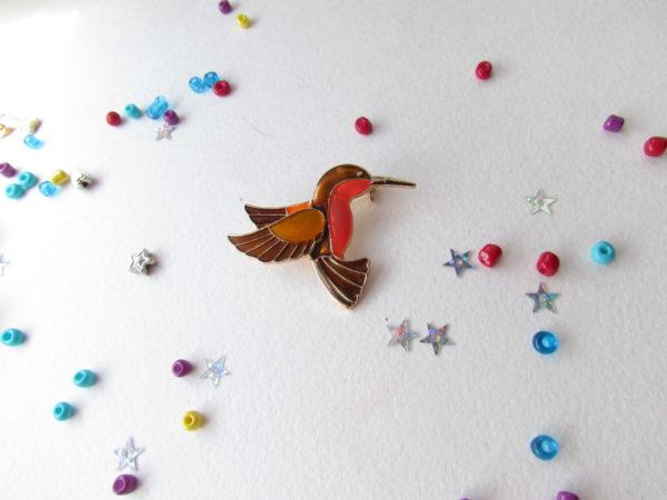 Значок колибри