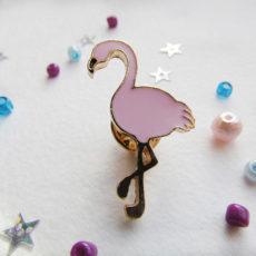 Значок Розовый фламинго